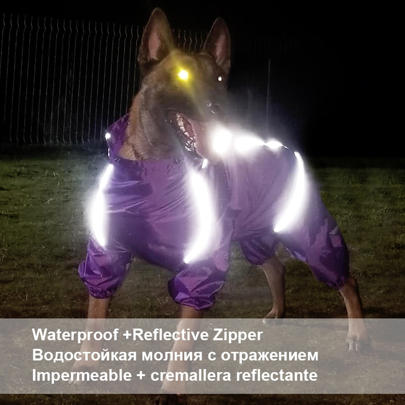 Imbracaminte impermeabilă impermeabilă pentru câini pentru animale - Produse pentru animale de companie - Fotografie 6