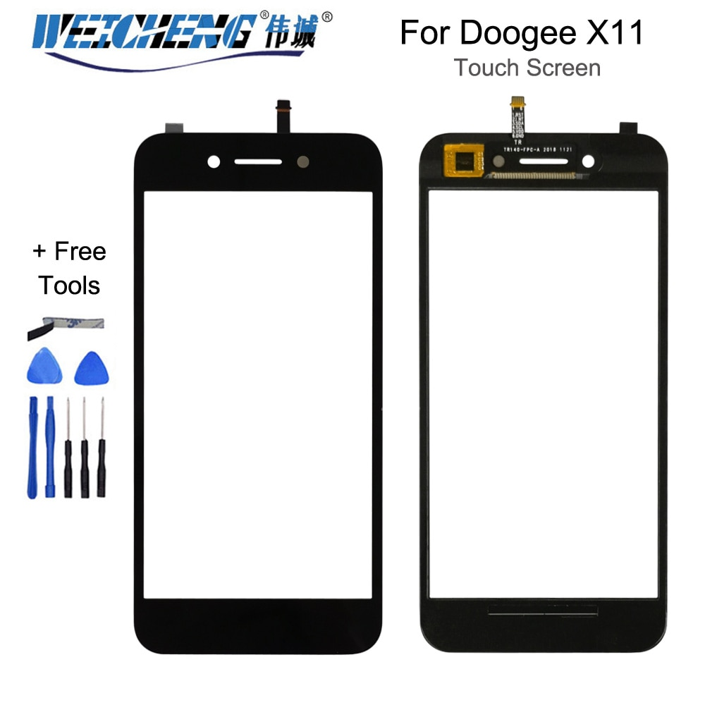 5.0 inch For Doogee X11  Front Glass Touch screen Mobile Phone For Doogee X11   Touch Digitizer Pane