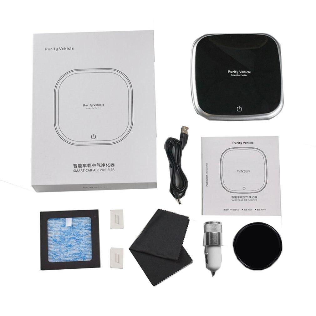 Smart Air Purifier Car Ionizer Anion Car Air Purifier Smoke Dust Remover Portable USB Air Cleaner for Car Home Use Negative Ion