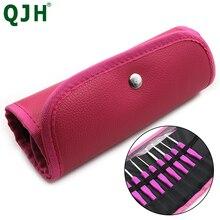 Sac de bricolage multifonctionnel violet/rose   Sac à Crochet multifonctionnel, sac de rangement à Crochet, sac à outils de tricot