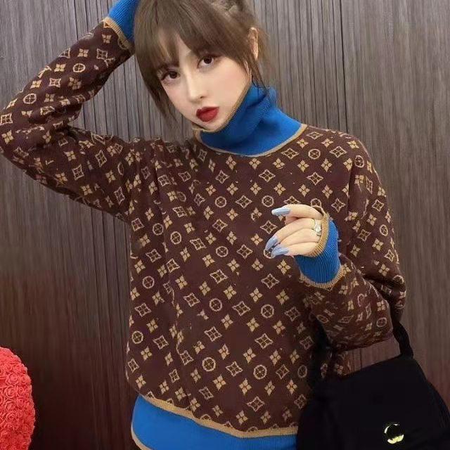 Autumn And Winter New High Collar Retro Womens Sweater