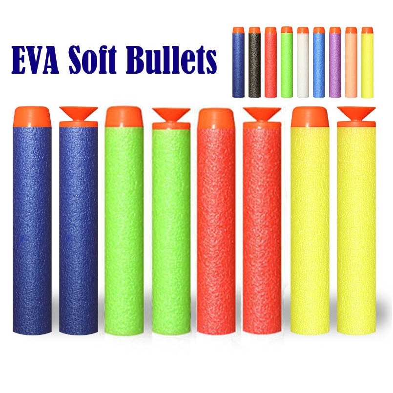 50/100Pcs 7.2cm EVA Soft Bullets for Nerf Hollow Hole Head Refill Darts Outdoor Toy Boys Gun for Ser