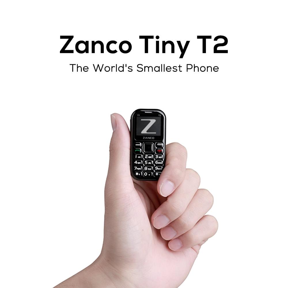 Мобильный телефон ZANCO tiny t2, 3G WCDMA мини-телефон, самый маленький карманный телефон, купить с бесплатным подарком