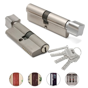 Дверной цилиндрический замок предвзятым 70 мм 3 ключа Анти-кражи вход латунь AB дверного замка безопасности межкомнатных дверей замок для спальни цилиндр