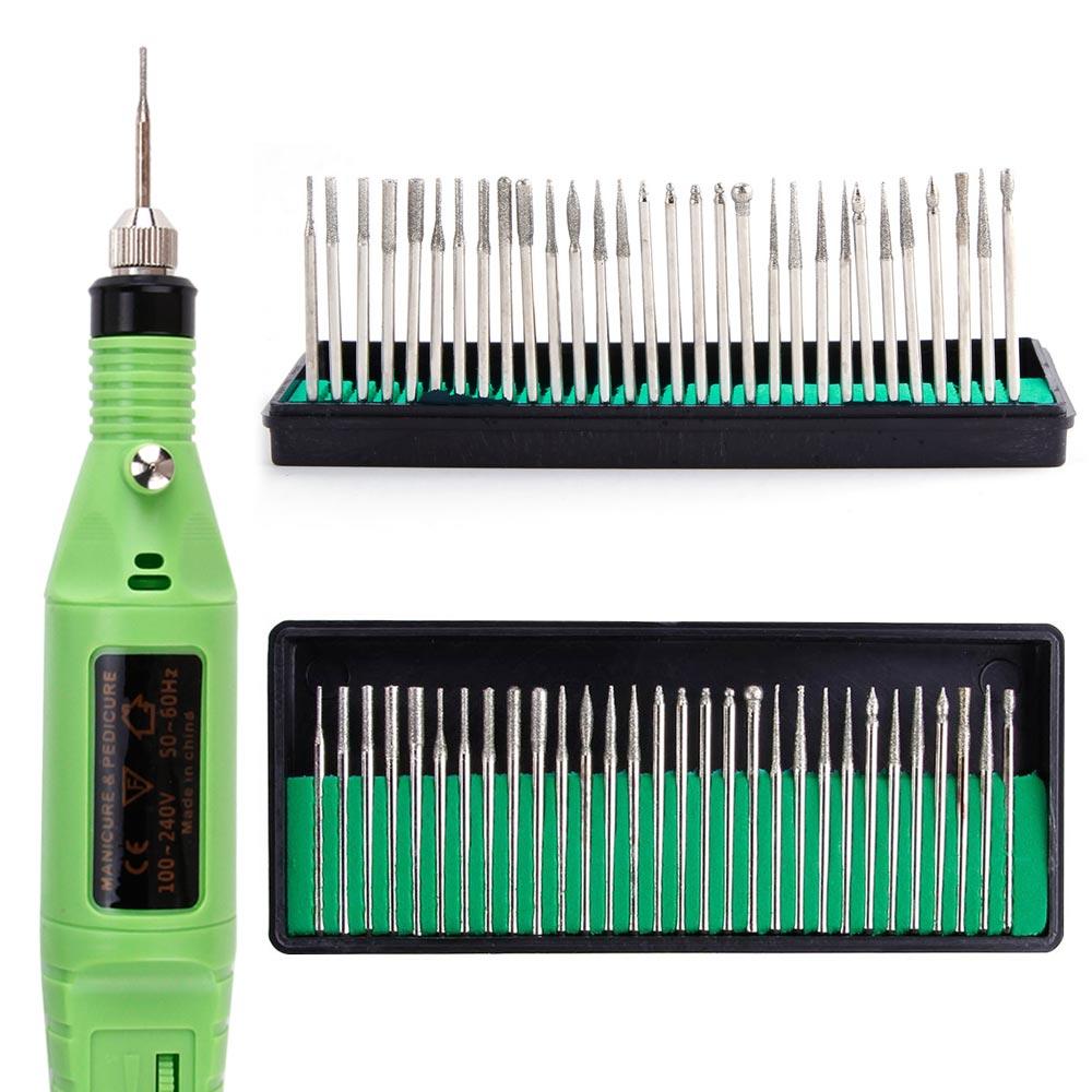 30Pcs/Set Electric Alloy Manicure Nail Art Drill Bits Set Milling Grinding Head Pedicure Toolkit