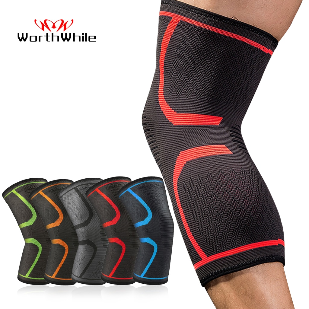 WorthWhile 1 PC Elastic Knee Pads Nylon Sports Fitness Kneepad Fitness Gear Patella Brace Running Ba