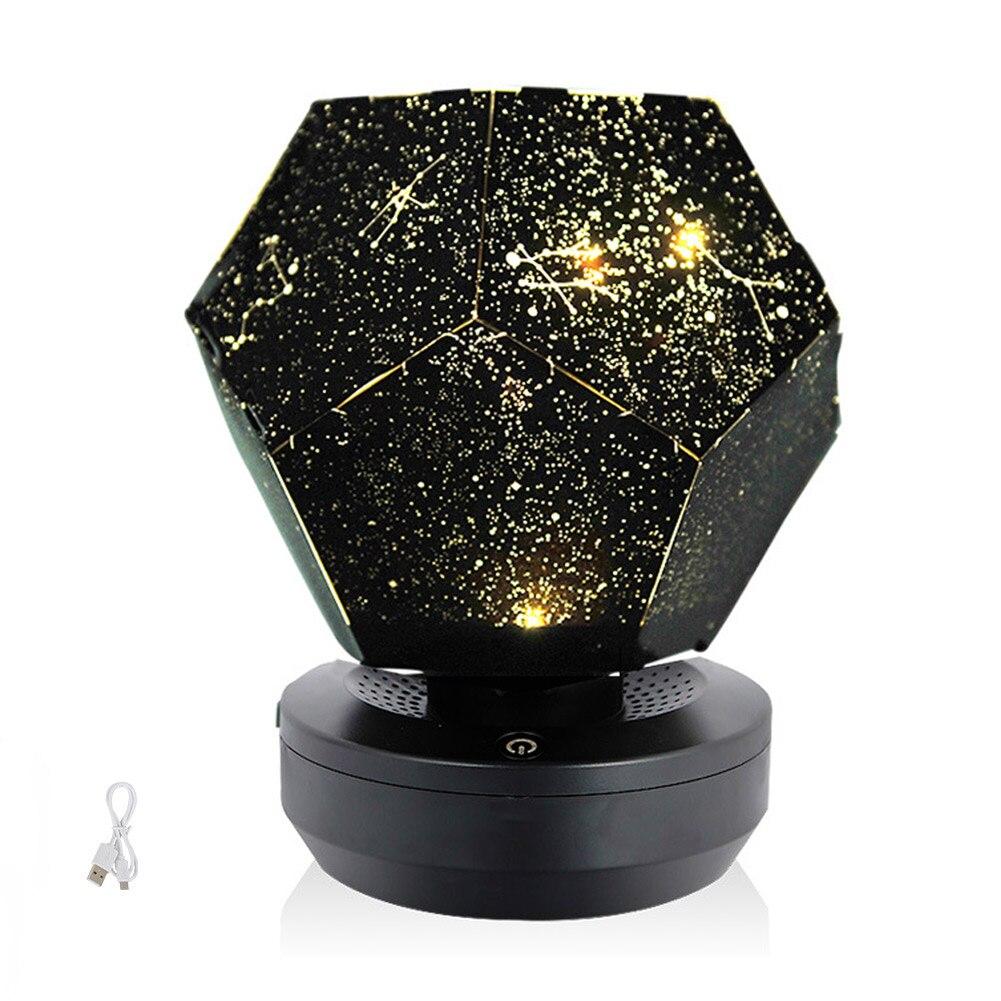 Navidad 60000 estrellas cielo estrellado proyector luz DIY montaje hogar planetario lámpara dormitorio decoración lighting_WK