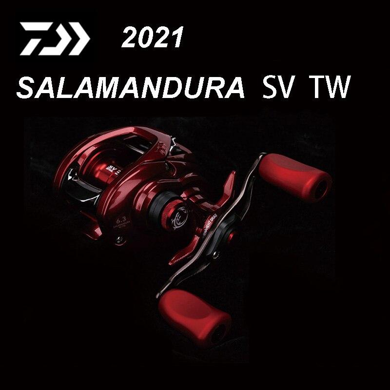 Carretel de Pesca Nova Original Daiwa Salamandura sv tw 103h 103hl Fogo Lagarto Mão Direita Esquerda Micro Universal Longo Tiro Roda 2022