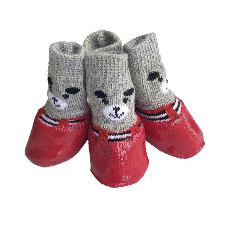 Calcetines cálidos de algodón con dibujos animados para perros, antideslizantes, accesorios de...