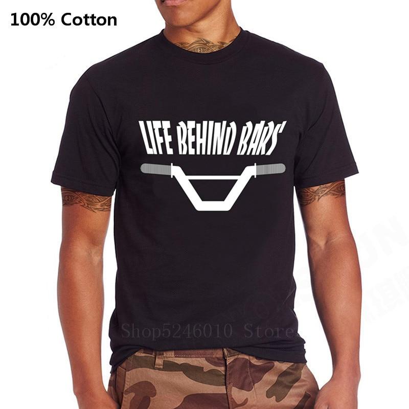 Camiseta divertida de Life Behind Bars con diseño de bicicleta, camiseta Unisex para hombre, camiseta fresca de bicicleta de montaña BMX, camiseta de paseo aeróbico Strava Enduro
