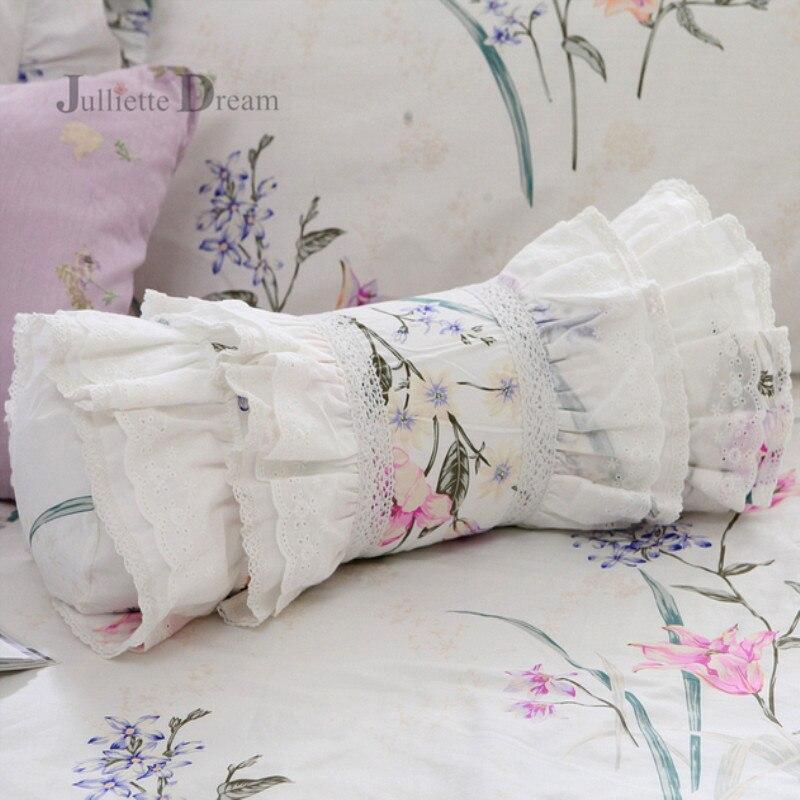 Cojín Victoria garden roll, cojín decorativo bonito para cama, cojín con volantes, adorno para dulces, capa de pastel, falda, almohada lumbar, reposapiés para sofá