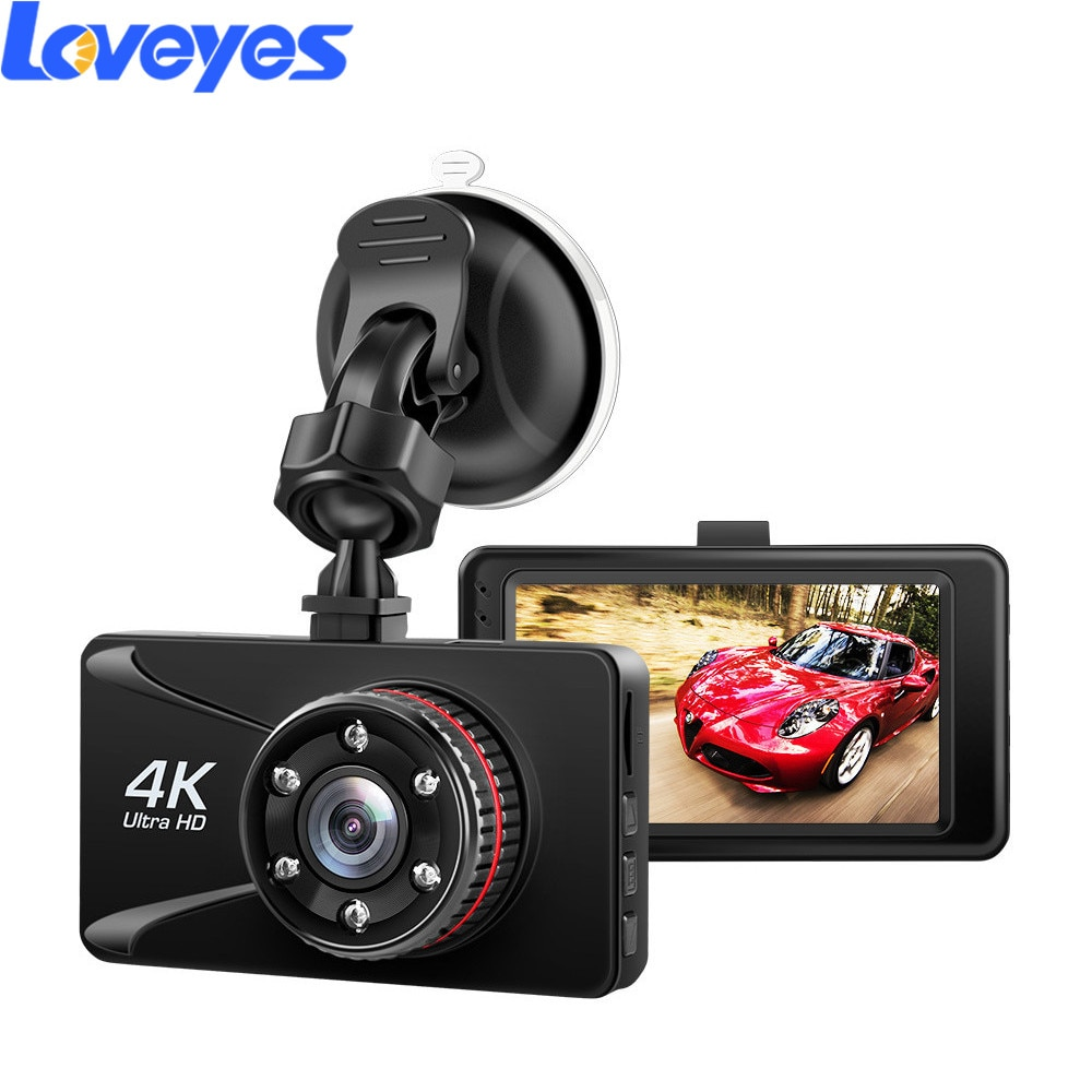 3 Inch 4K Dash Camera Single Lens Driving Recorder Night Vision HD HDMI Vehicle Data Recorder Loop Recording Car DVR AKG11H