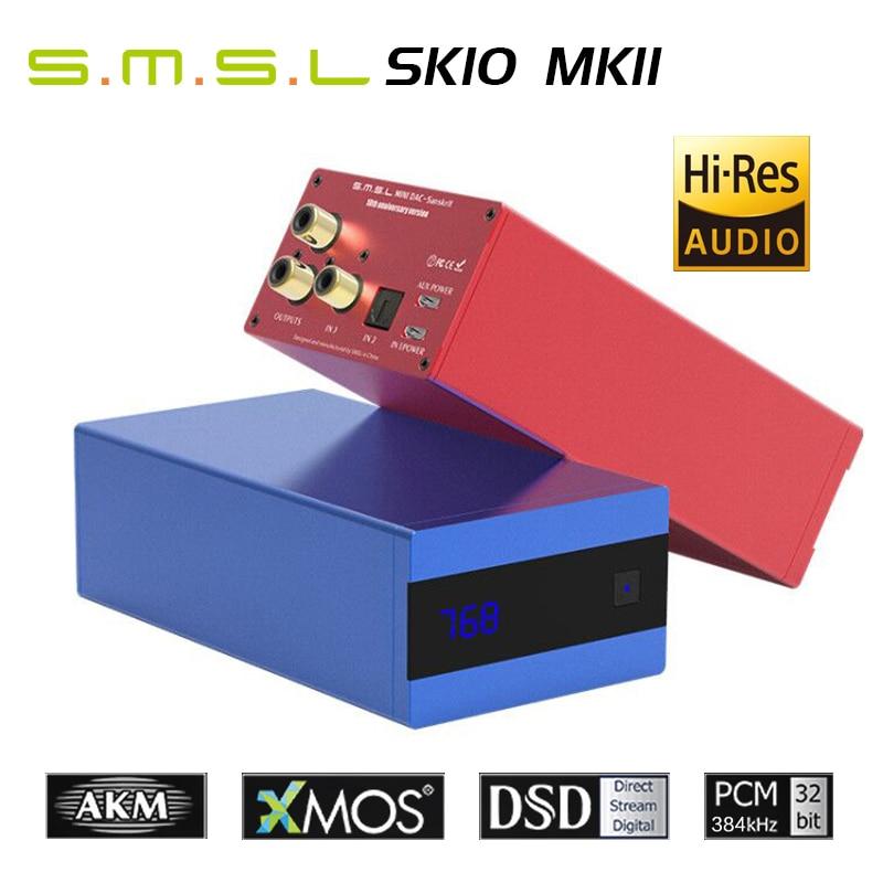 جهاز فك تشفير DAC المتطور SMSL SK10 MKII Sanskrit 10th MKII AK4493 24 بت/384 كيلو هرتز DSD256