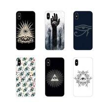 Accessoires housse de téléphone Pyramide Voit Tout Mauvais Œil Pour Samsung A10 A30 A40 A50 A60 A70 M30 Galaxy Note 2 3 4 5 8 9 10 PLUS