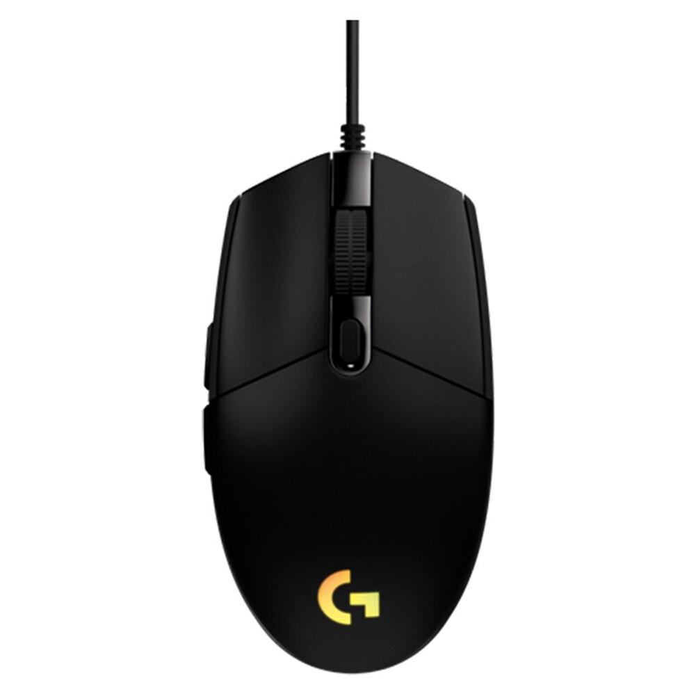 Logitech g102 lightsync profissional gaming mouse rgb 6 botões 200-8000 dpi wired mouse óptico para windows pc gamer ratos novo