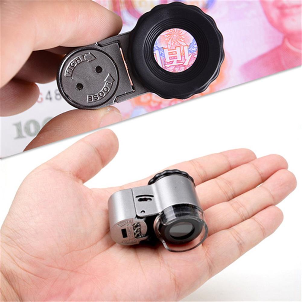 50X LED Mini Microscope bijoux Loupe Loupe 9882A Instruments optiques Loupe