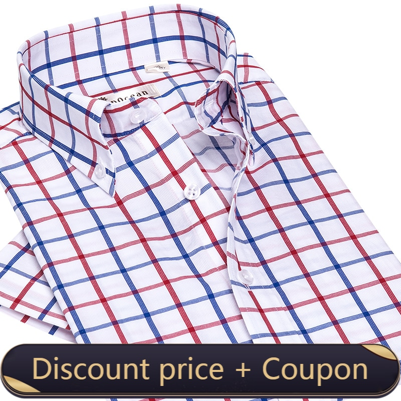 Deerocean الأمريكية القطن الخالص منقوشة قميص رجالي موضة عادية قسم رقيقة الاتجاه ضئيلة