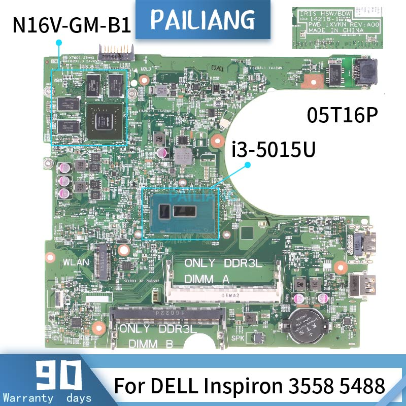 CN-0NW0DG para DELL Inspiron 5547 LA-B012P 0NW0DG SR1EK I3-4005U 216-0856030 placa base de computadora portátil DDR3 probado ok