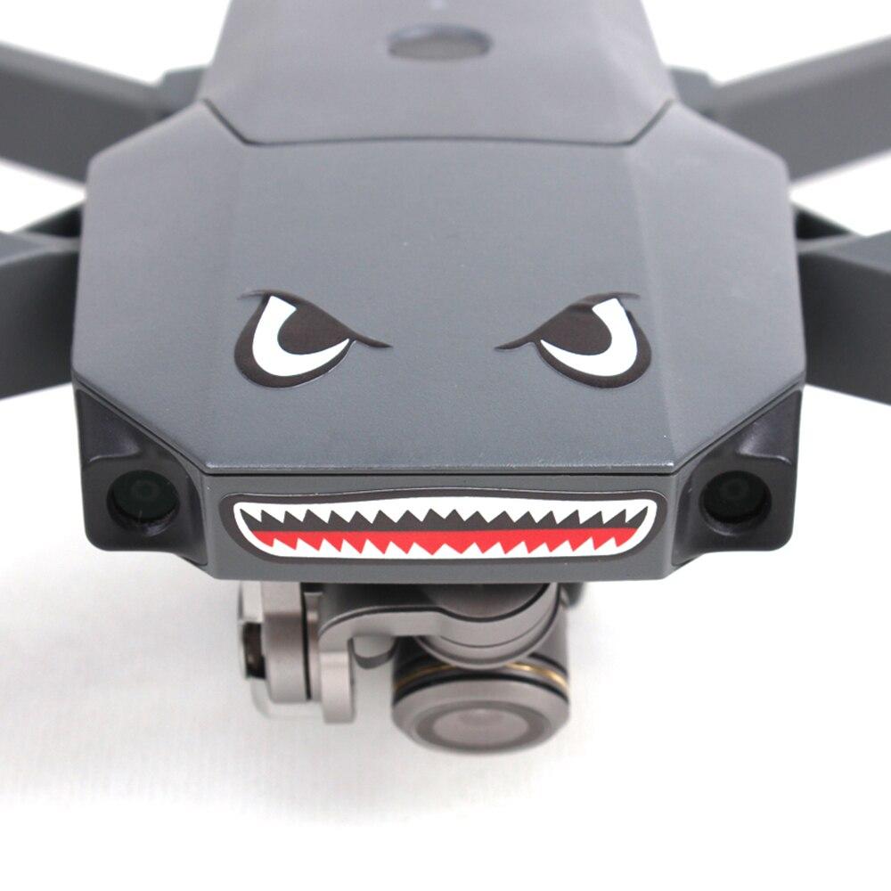 Наклейки для дрона, наклейка на лицо акулы, аксессуары для тела дрона, подходящие модели для королевского Mini/AIR/PRO/Xiao Spark, милая наклейка