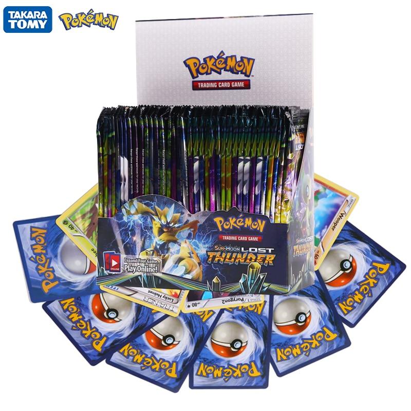 324Pcs Pokemon Cards TCG:LOST Thunder Sword&Shield Sun&Moon English Trading Card Game Booster Box Co