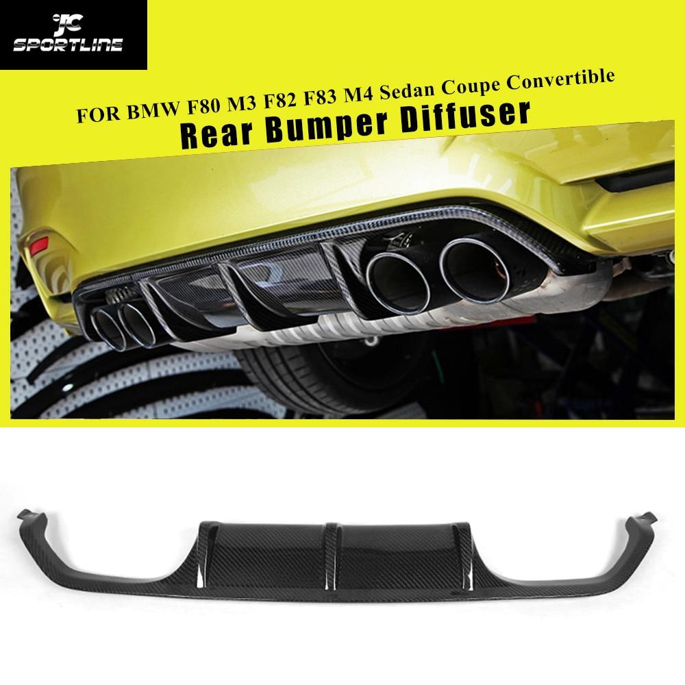Fibra de carbono/frp amortecedor traseiro difusor spoiler para bmw f80 m3 f82 f83 m4 coupe sedan convertible 2014 - 2018