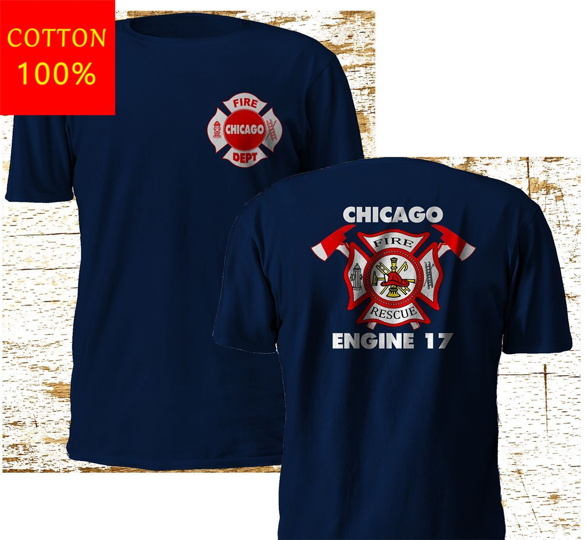 Moda nova chicago bombeiro departamento backdraft motor 17 fogo marinha camiseta m 3xl