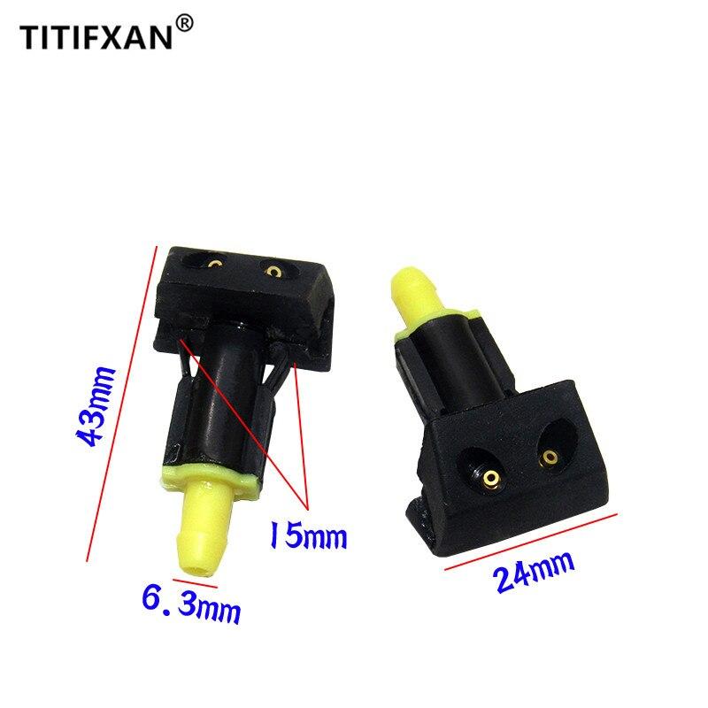 2 uds. Limpiador de pulverizador de agua para el parabrisas del coche boquilla para Nissan old TIIDA 06-11 años silphy