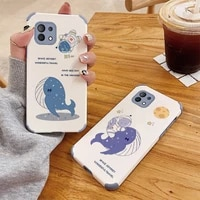 floating whale shockproof case for xiaomi mi 11 lite ultra 11i 10t pro 10 10s lite pro poco f2 x2 f3 pro soft phone cover case