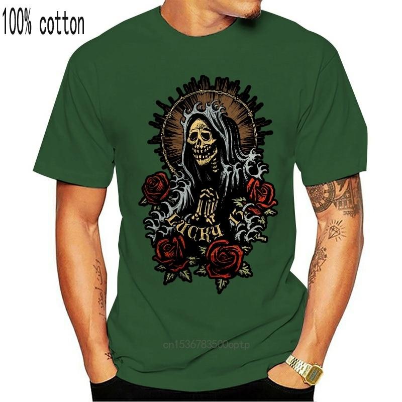 New Lucky 13 shirt santa maria artist series virgin mary tattoo day the dead SMALL Cool Casual pride t shirt men Unisex Fashion