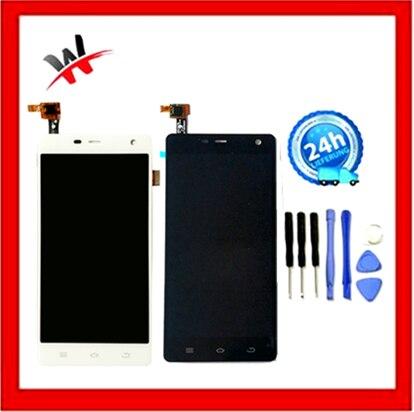 """Axisinternational para pantalla LCD de 5,0 """"THL 5000 + digitalizador de panel de pantalla táctil color blanco/Negro envío gratis"""