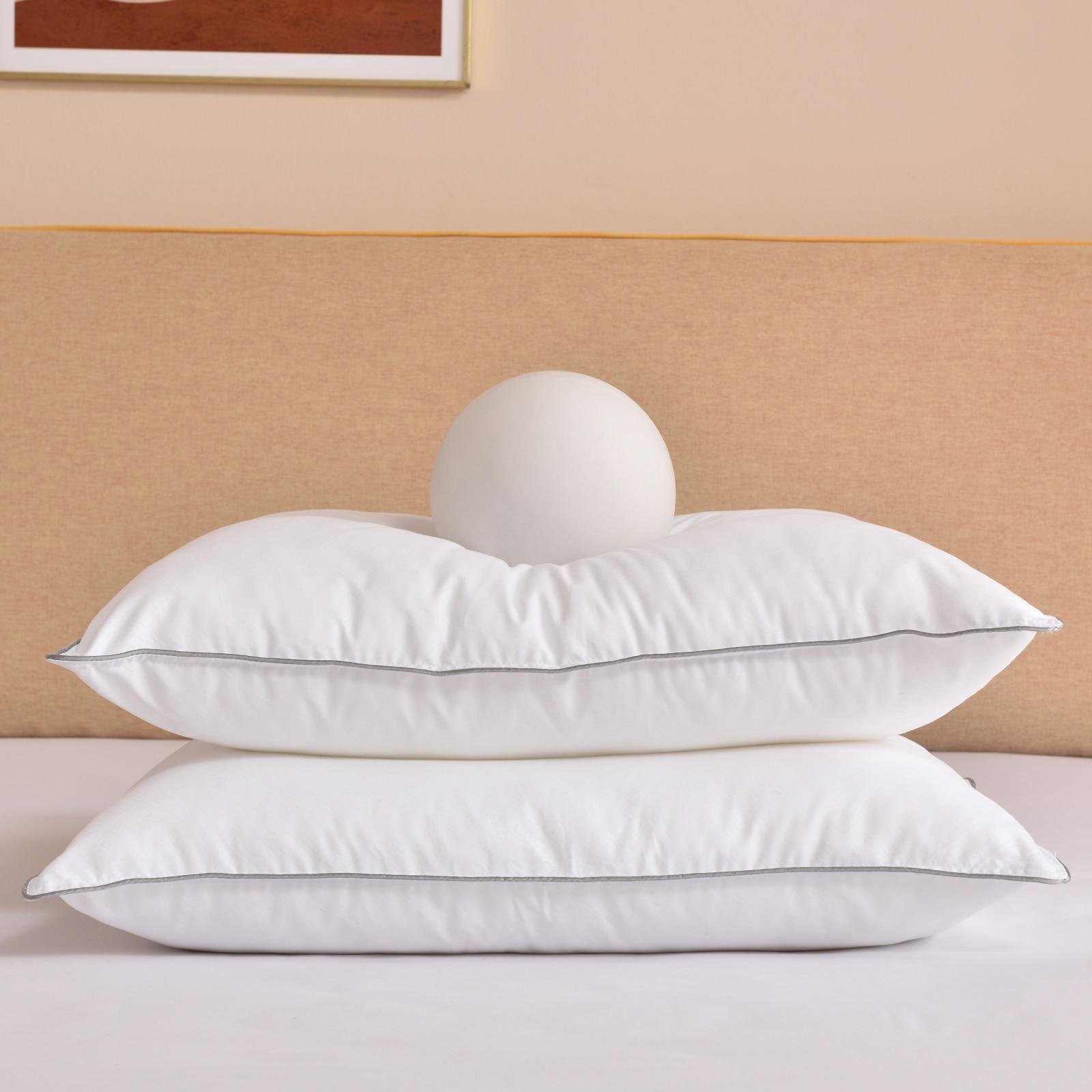Buyoung السرير الوسائد للنوم 2 حزمة ، الأبيض الفراش وسادة لينة رقيق فندق الوسائد ل الجانب والظهر النائمون