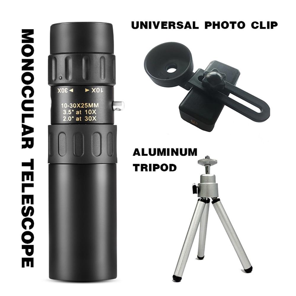 10-300x40mm Monocular Telescope Zoom High-Quality Monocular Binoculars Telescope Supports Smartphone with Light Night Vision