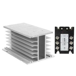 CE approval 60A 80A 100A 120A DC-AC 3 phase solid state relay SSR relay module+matched radiator input 3-32VDC output 24-480VAC
