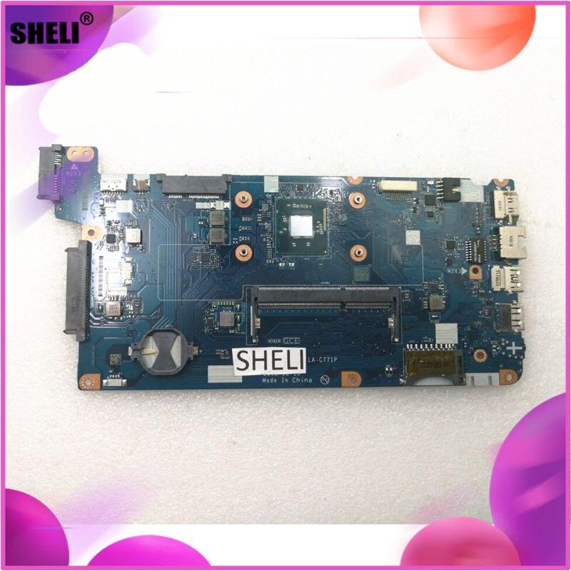 SHELI para Lenovo 100-15iby placa base N2840 cpu LA-C771P