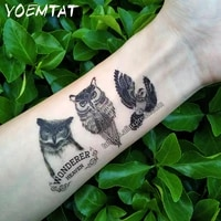 waterproof temporary 3d tattoo sticker body art fake owl girl cool stuff funny things sexy products for women men