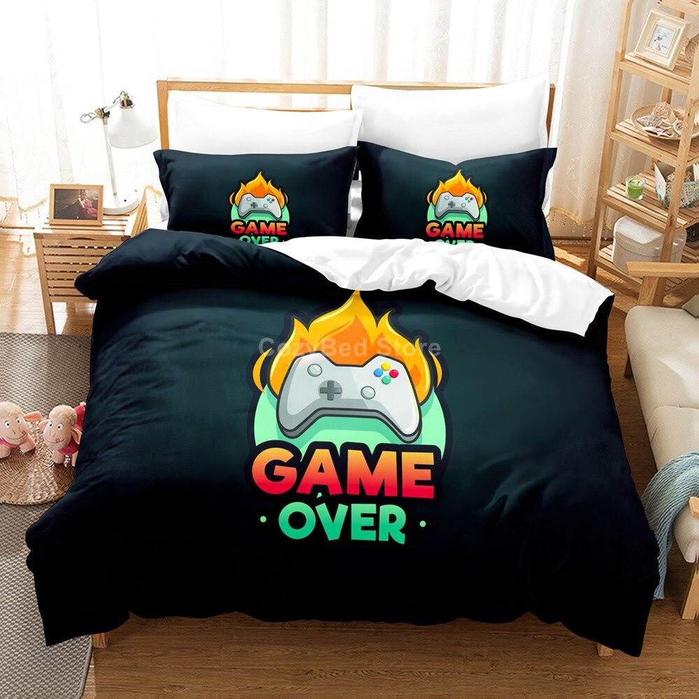 لعبة أكثر من طقم سرير غمبد ثلاثية الأبعاد طقم أغطية لحاف المعزي أغطية سرير التوأم الملكة الملك حجم واحد فاخر ألعاب الكرتون الاطفال هدية