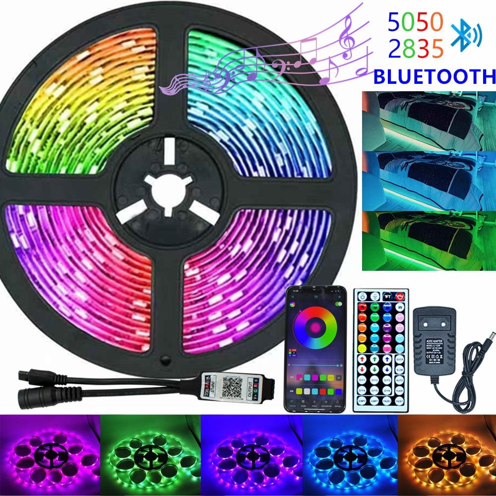 Infrarrojos/Bluetooth/WiFi LED luces de tira RGB 5050 2835 lámpara Flexible cinta con...