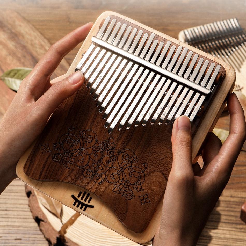 NEW Kalimba 21 Key Black Walnut Thumb Piano  Double-layer side hole  kalimba Musical Instruments Keyboard Instruments enlarge