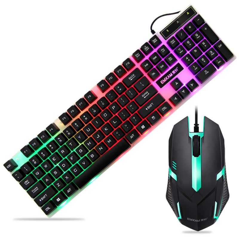 Keyboard Waterproof Mouse Mice USB Wired Gaming Accessories for Microsoft HP LG PC Laptop Tablet  Win XP/7/8 Mac10.2 WXTA