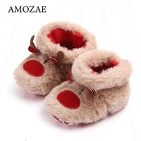 2021 winter baby girls boys keep warm shoes christmas elk first walkers anti slip newborn toddler infant girl footwear shoes