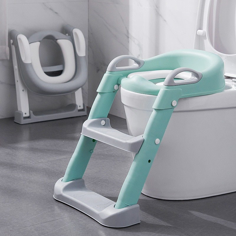 للطي الطفل الصبي الأطفال وعاء المحمولة الأطفال قعادة مبولة للبنين مع خطوة البراز سلم قاعدة تدريب الطفل على المرحاض مقعد