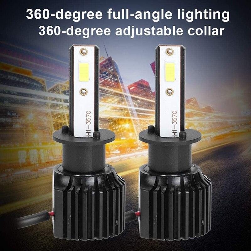 1 par h1/h3/h4/h7/h8/h9/h11/h13/h16/5202 120w 6000k 3000 lm brilhante carro led farol luz branca à prova dwaterproof água dissipação de calor