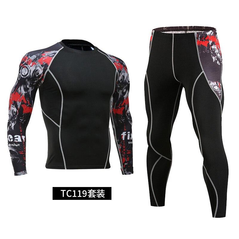 Men's sportswear 2021 new hot sale compression sportswear running tights gym sweat quick-drying running clothes sportswear
