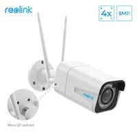Reolink Видеонаблюдение Wi-Fi 2.4 г/5 г HD 5MP Зум Автофокус cctv Безопасности Ночноего Видения Пуля IP Камера RLC-511W