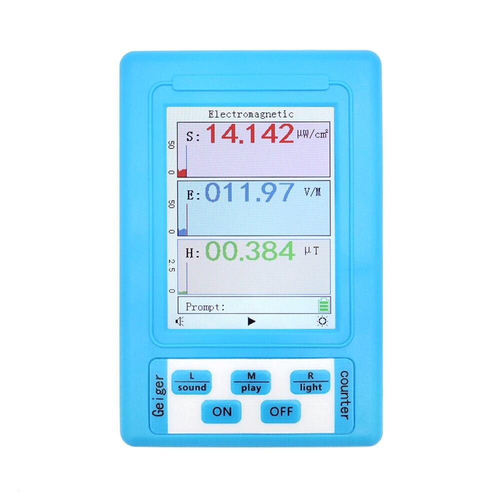 Probador Digital de mano BR-9A Detector de radiación electromagnética alta precisión profesional Semi-funcional tipo EMF medidor