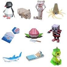 Papier pour bricolage Scrapbook décoration papier Haruki Nakamura jouets animaux Origami Kirigami pliant Adorable jouets produit Non fini