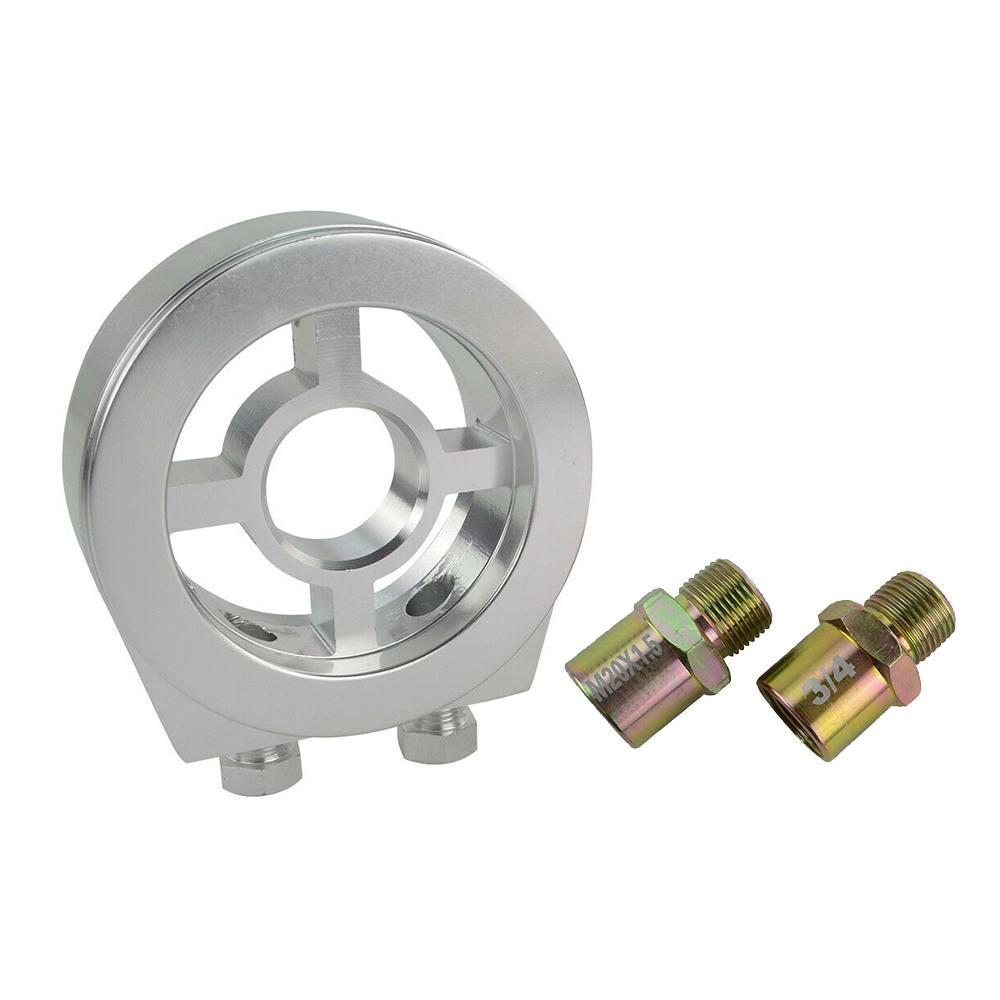 Oil Pressure Gauge Filter Sandwich Adapter Plate 1/8 Npt Temperature Sensor Car Instrument Cake Oil Cooler Adapter