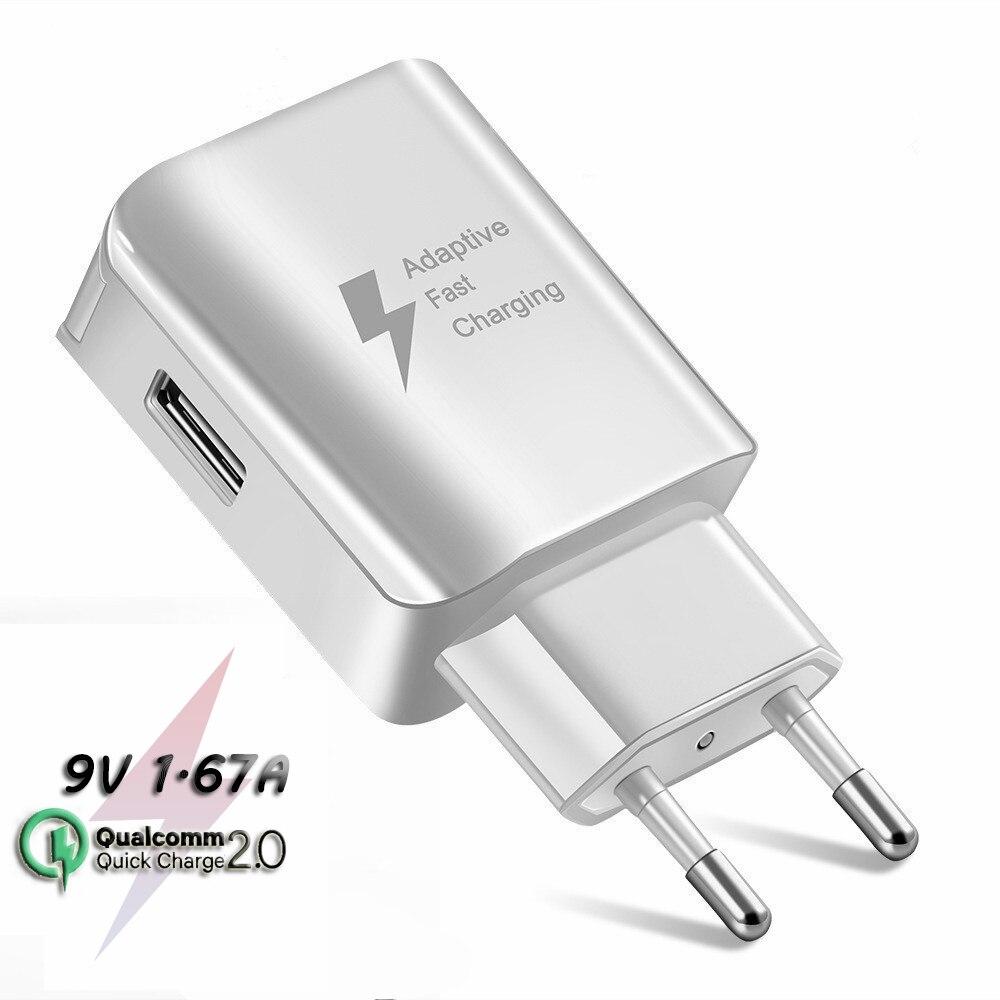 Adaptador de carga rápida, carga rápida, Cargador USB 2,0 QC 2,0 AFC, cargador de carga rápida para Samsung Galaxy M40 30 10 A 7 60 20 8 J3