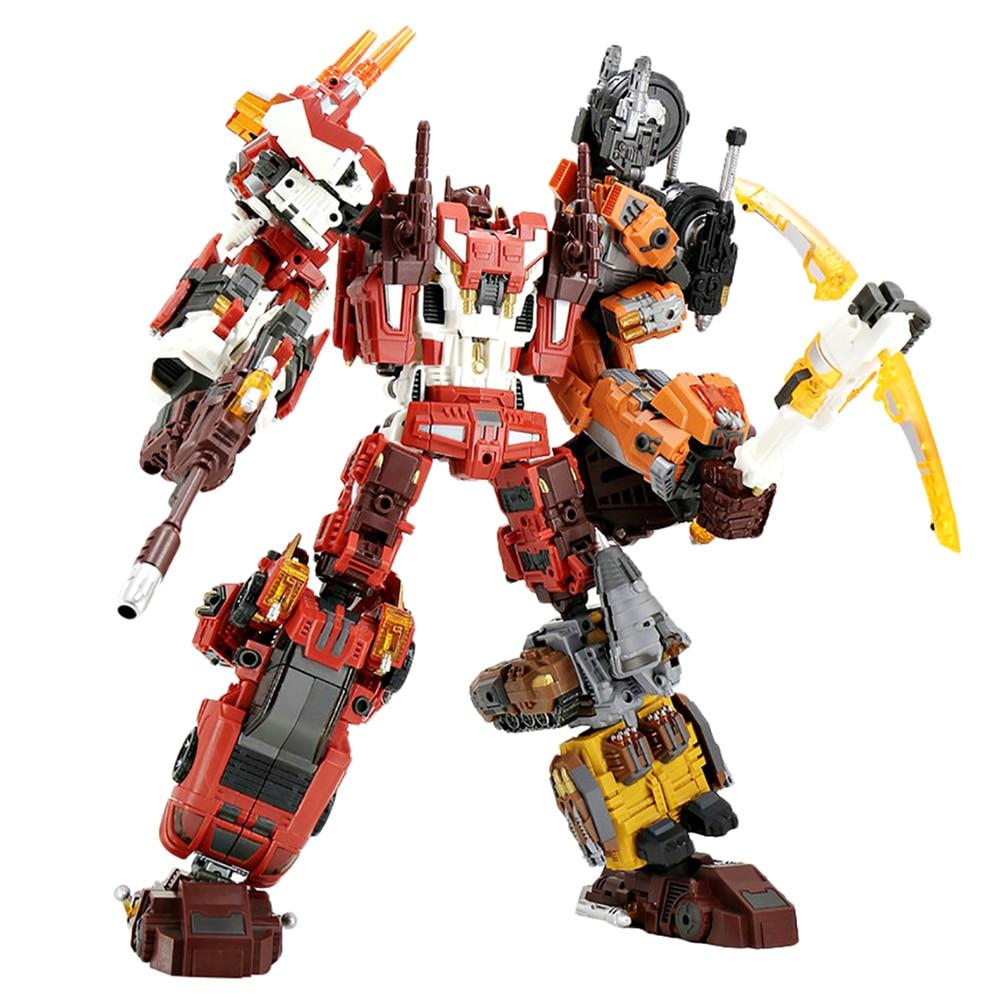 Transformação figura de ação brinquedo warbotron WB-03 5in1 technobots computtron filme modelo 38cm figma ko b3900 deformação carro robô
