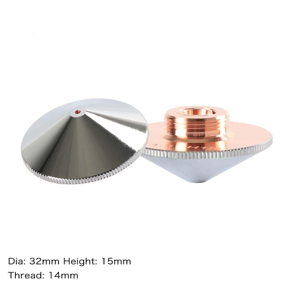 Boquilla Raytools de una sola capa/doble capa Dia.32mm calibre 0,8-5,0mm para dar poder a la cabeza del láser de fibra Bodor Glorystar láser envío gratis